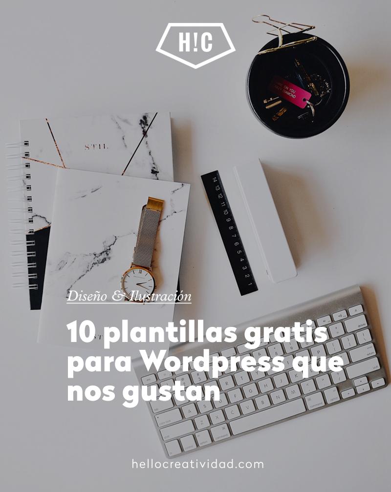 10 plantillas gratis de WordPress que nos gustan