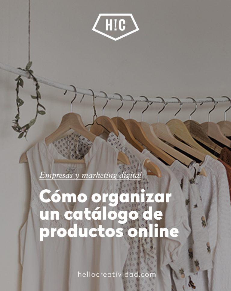 Imagen portada Cómo organizar un catálogo de productos online