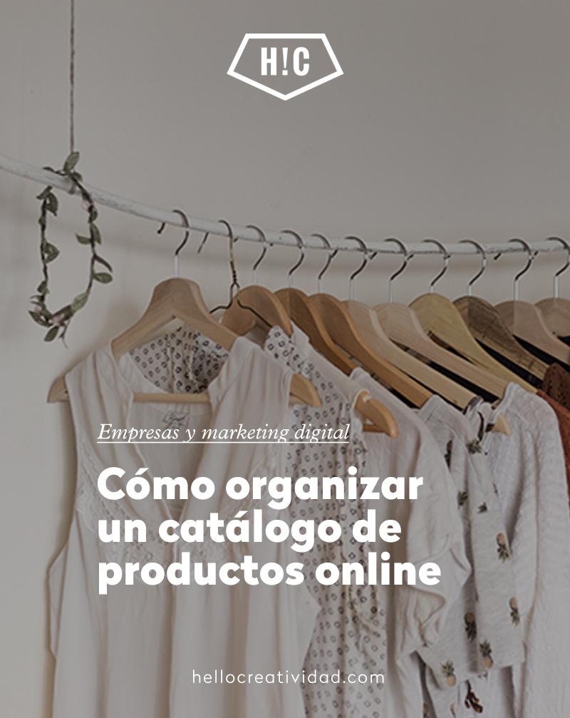 Cómo organizar un catálogo de productos online