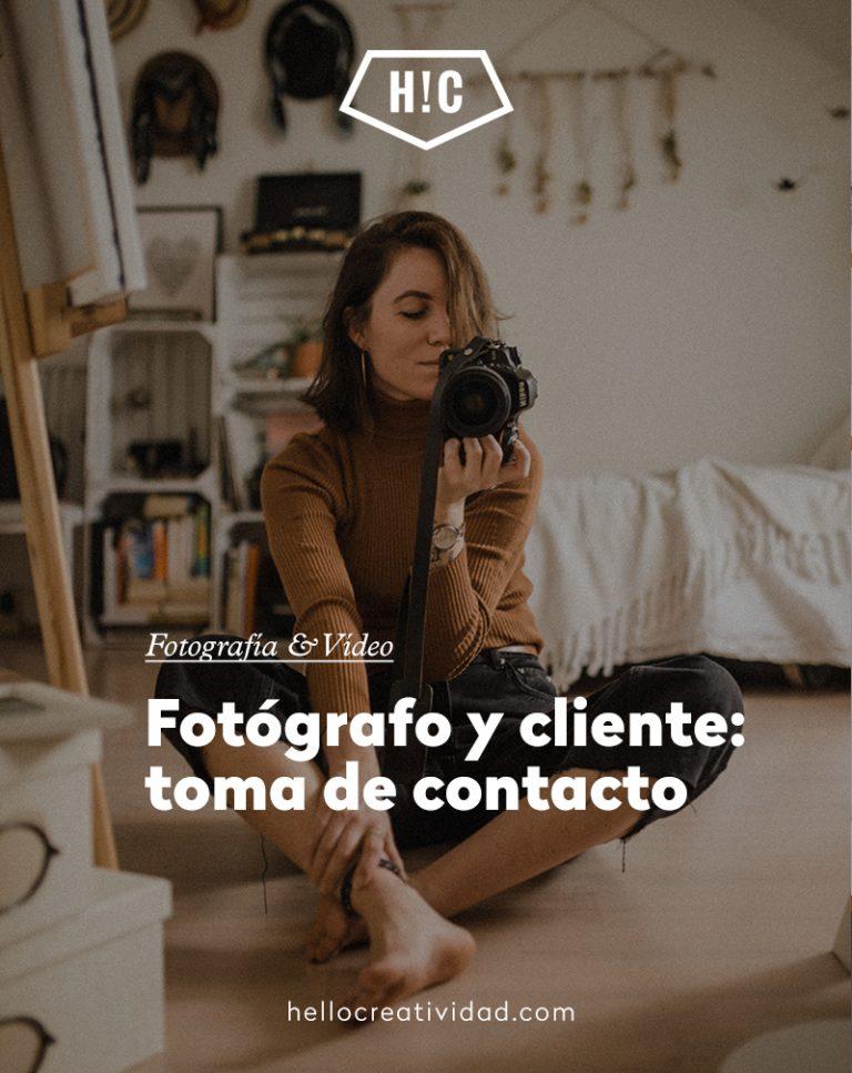 Imagen portada Fotógrafo – Cliente: Primera toma de contacto