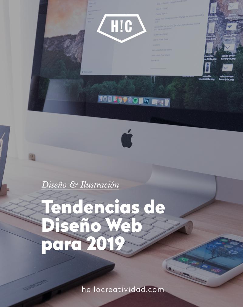 Tendencias de Diseño Web para 2019
