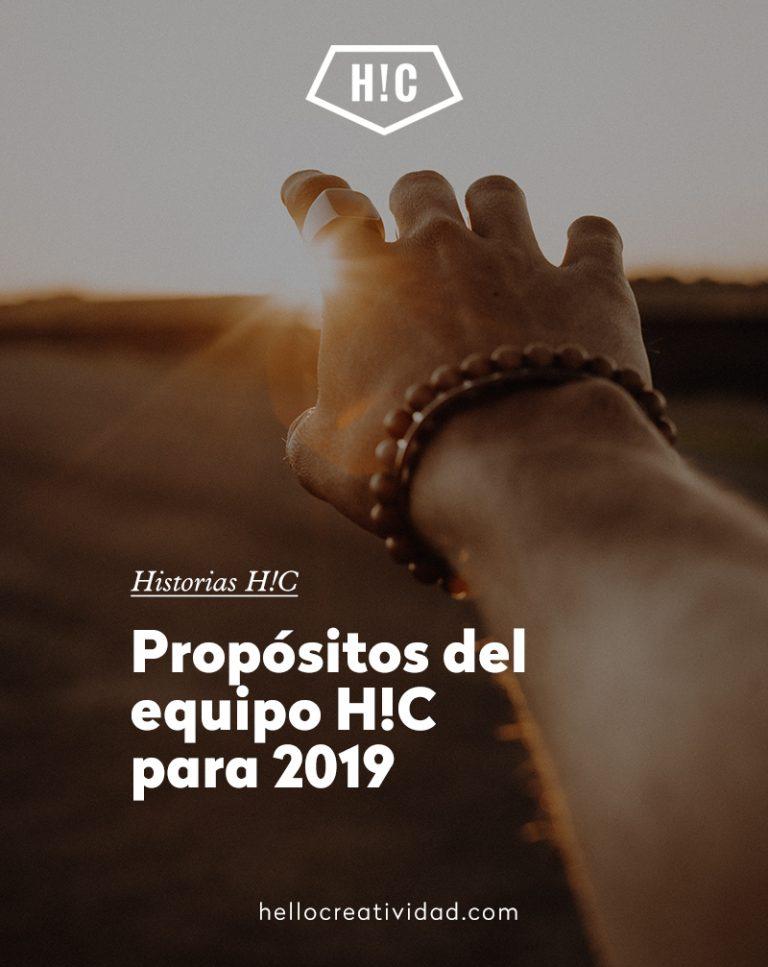Imagen portada Propósitos del equipo H!C para 2019