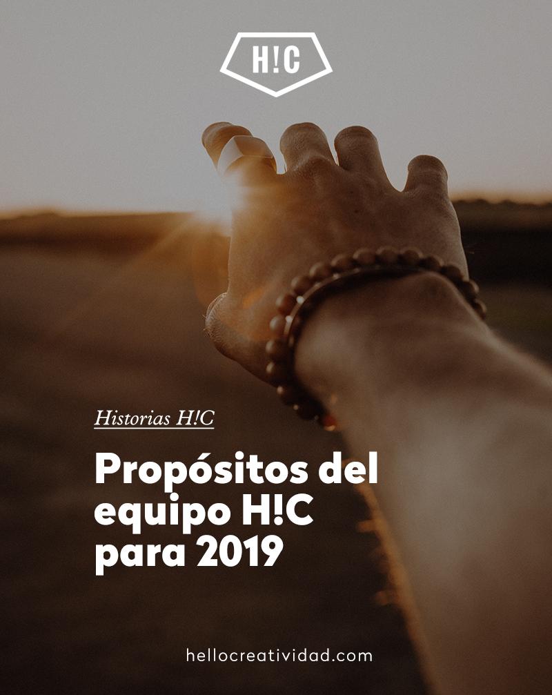 Propósitos del equipo H!C para 2019