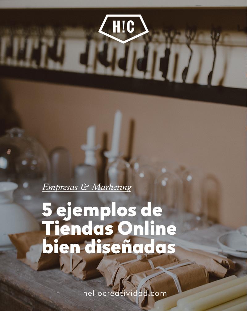 5 Ejemplos de tiendas online bien diseñadas