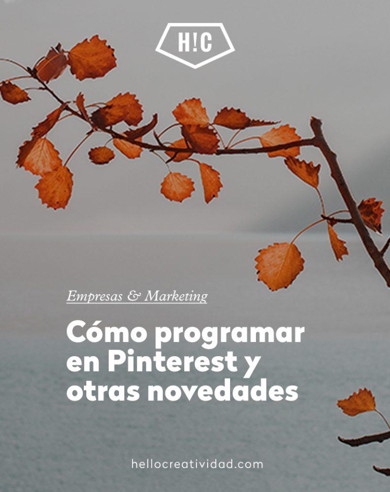 Imagen portada Cómo programar en Pinterest y otras novedades