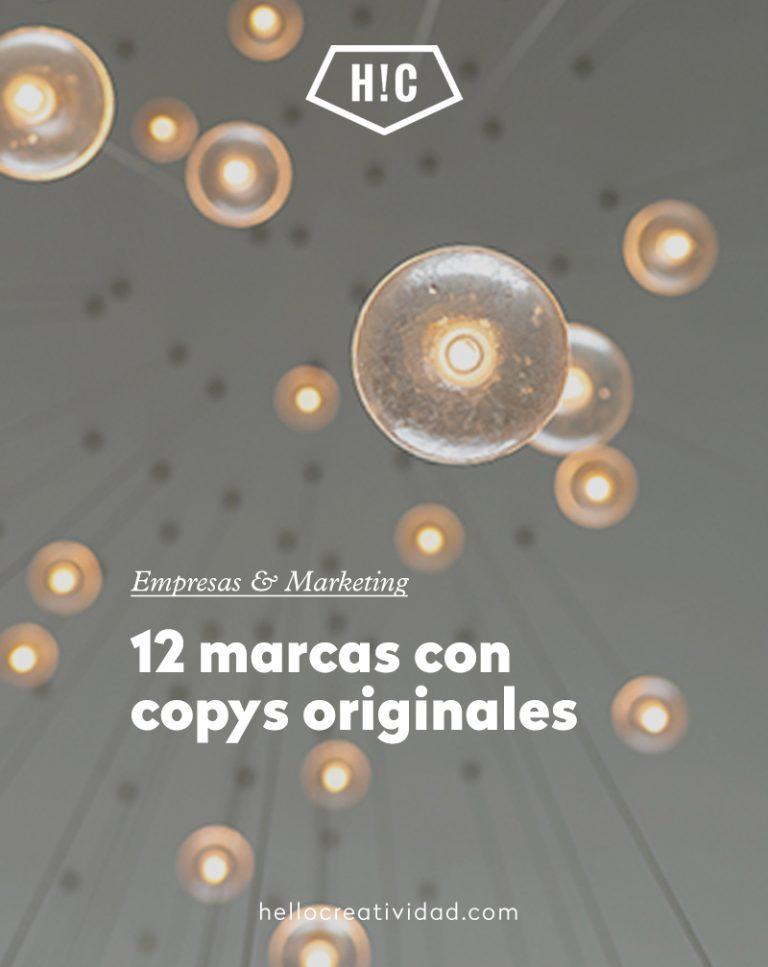 Imagen portada 12 marcas con copys originales
