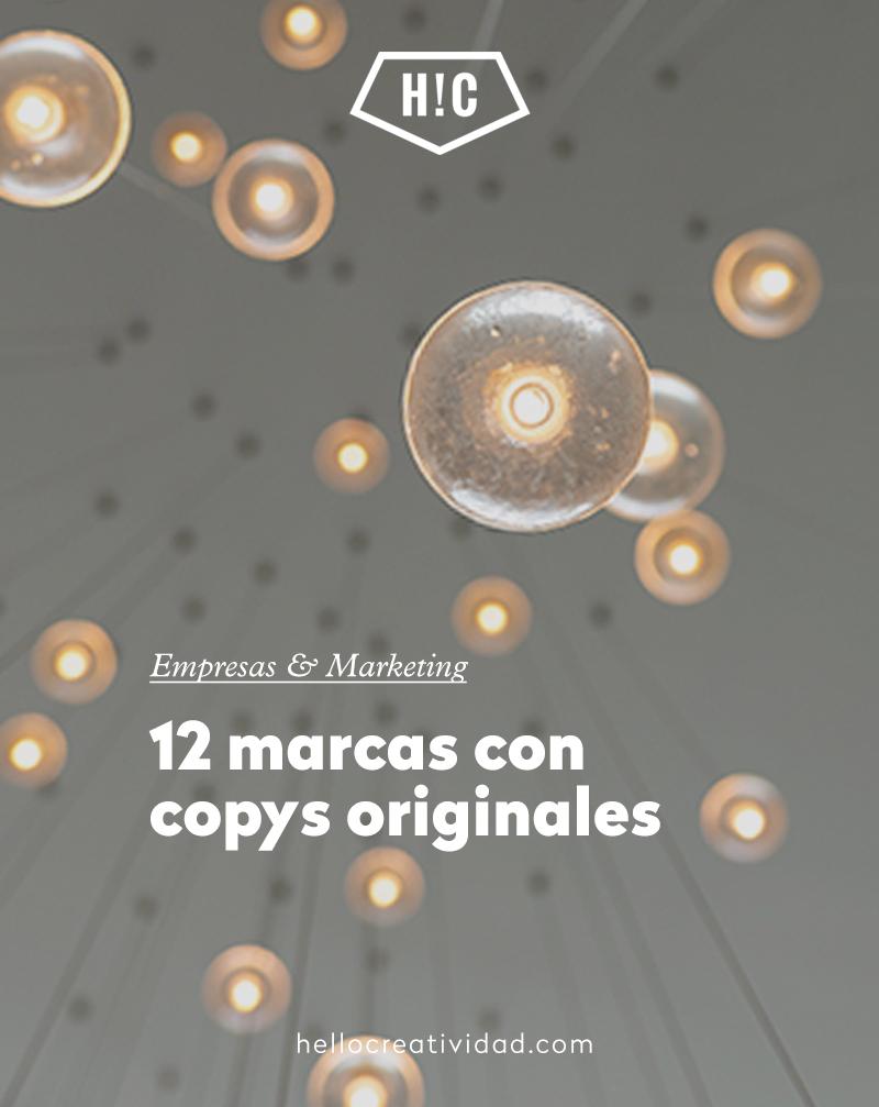 12 marcas con copys originales