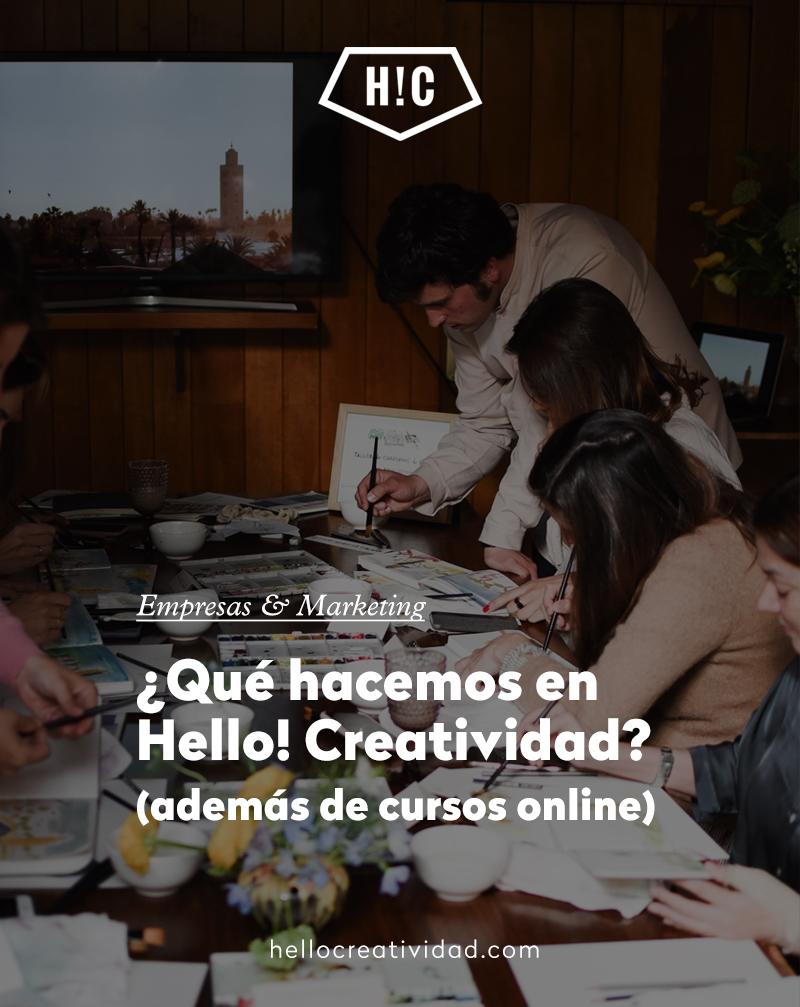 Formación para empresas en Hello!Creatividad