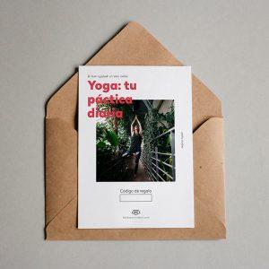 Tarjeta regalo Yoga: tu práctica diaria