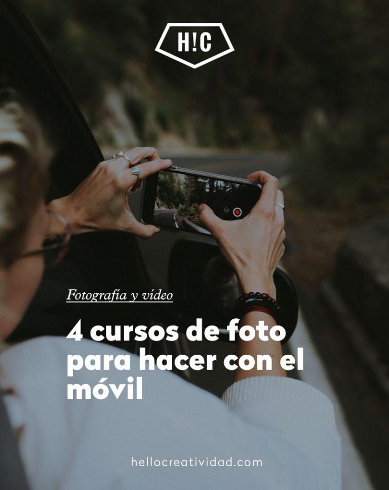 Imagen portada 4 cursos de foto para hacer con el móvil