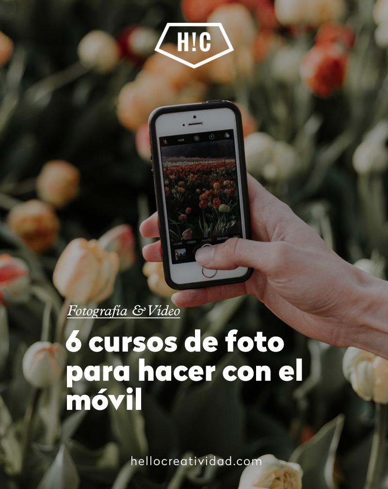 6 cursos de foto para hacer con el móvil