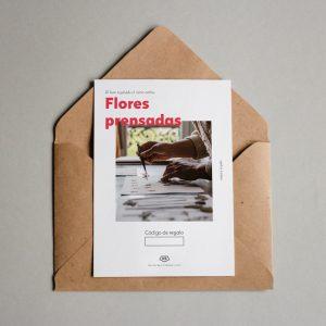 Tarjeta regalo Flores Prensadas