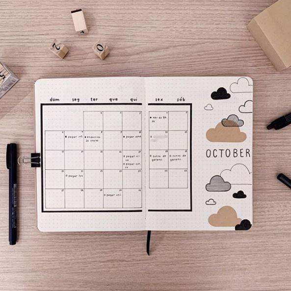 aprende-registro-mensual-minimalista-bullet-journal