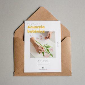 Tarjeta regalo Acuarela botánica