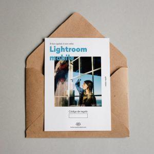 Tarjeta regalo Lightroom mobile