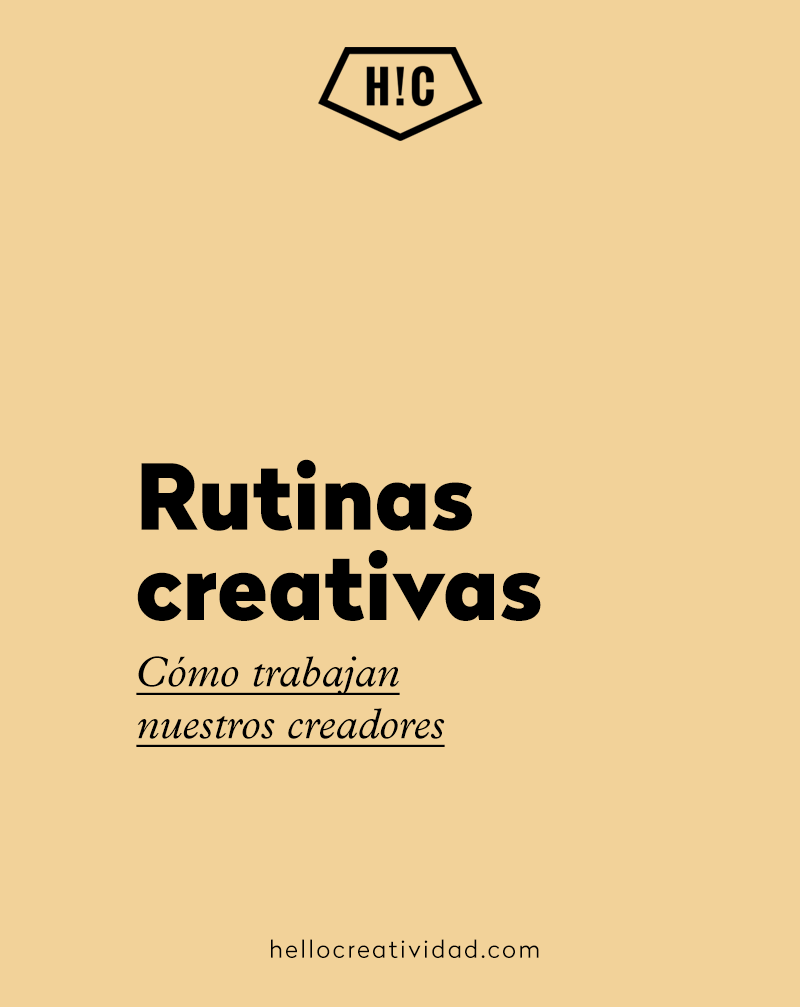 Rutinas creativas: Mercedes Zubizarreta