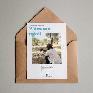 Tarjeta regalo Vídeo con móvil