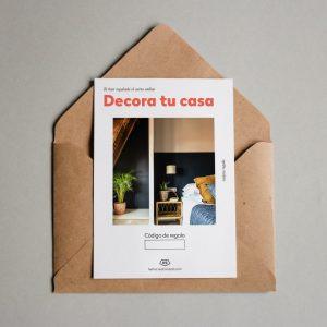 Tarjeta regalo Decora tu casa