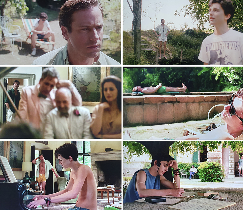 escena desenfoque fotografía call me by your name