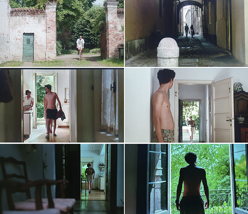 enncuadre de la fotografía de call me by your name
