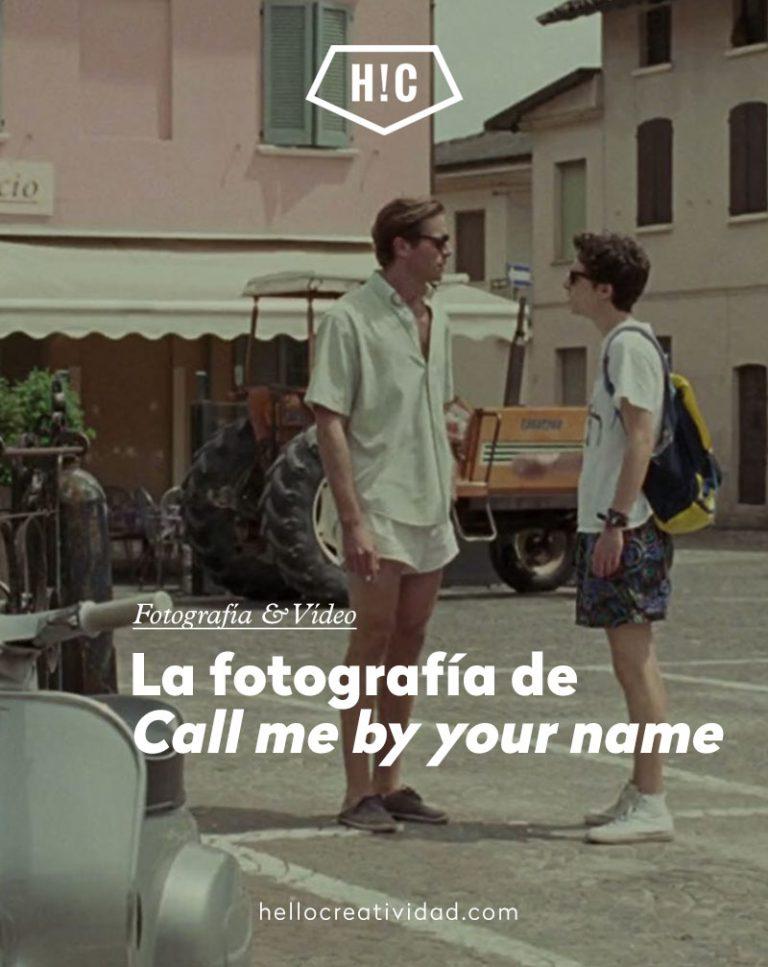 """Imagen portada La fotografía de """"Call me by your name"""""""