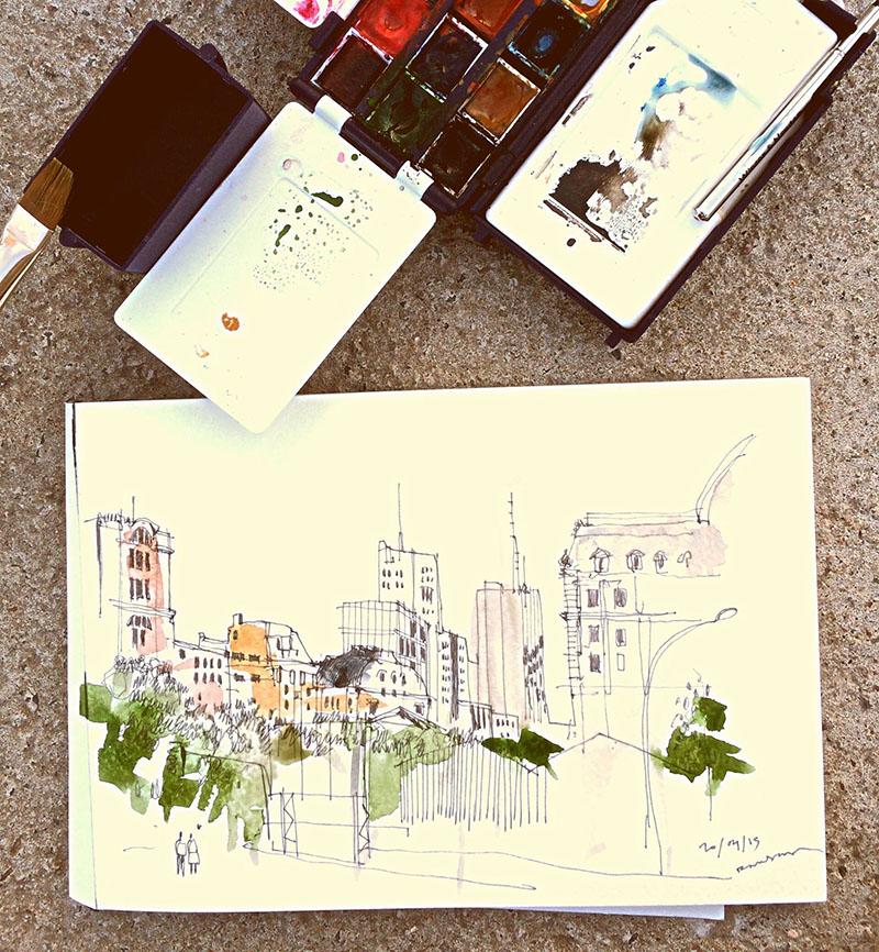 aprende a dibujar tu cuaderno de viaje