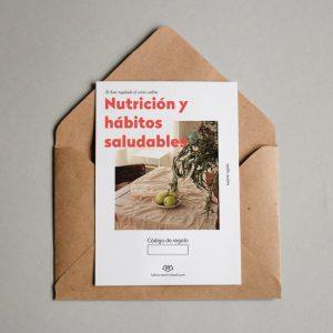 Tarjeta regalo Nutrición y hábitos saludables
