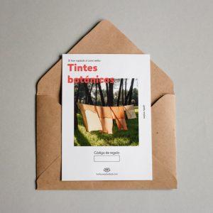 Tarjeta regalo Tintes botánicos