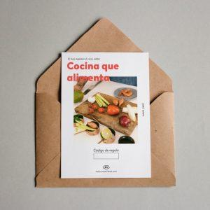 Tarjeta regalo Cocina que alimenta