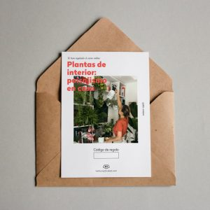 Tarjeta regalo Plantas de interior: paisajismo en casa