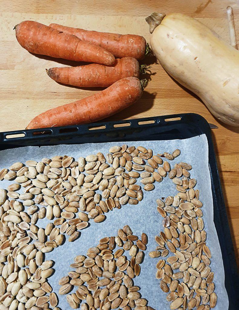 batch cooking_cacahuetes tostados
