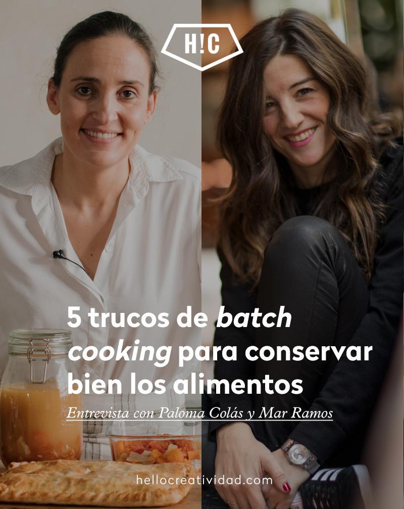 5 trucos de batch cooking para conservar bien los alimentos