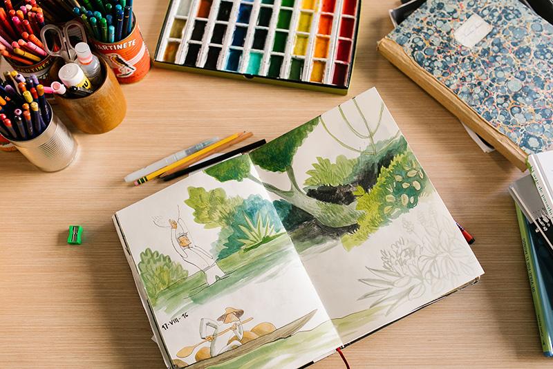 como dibujar con acuarela para ninos