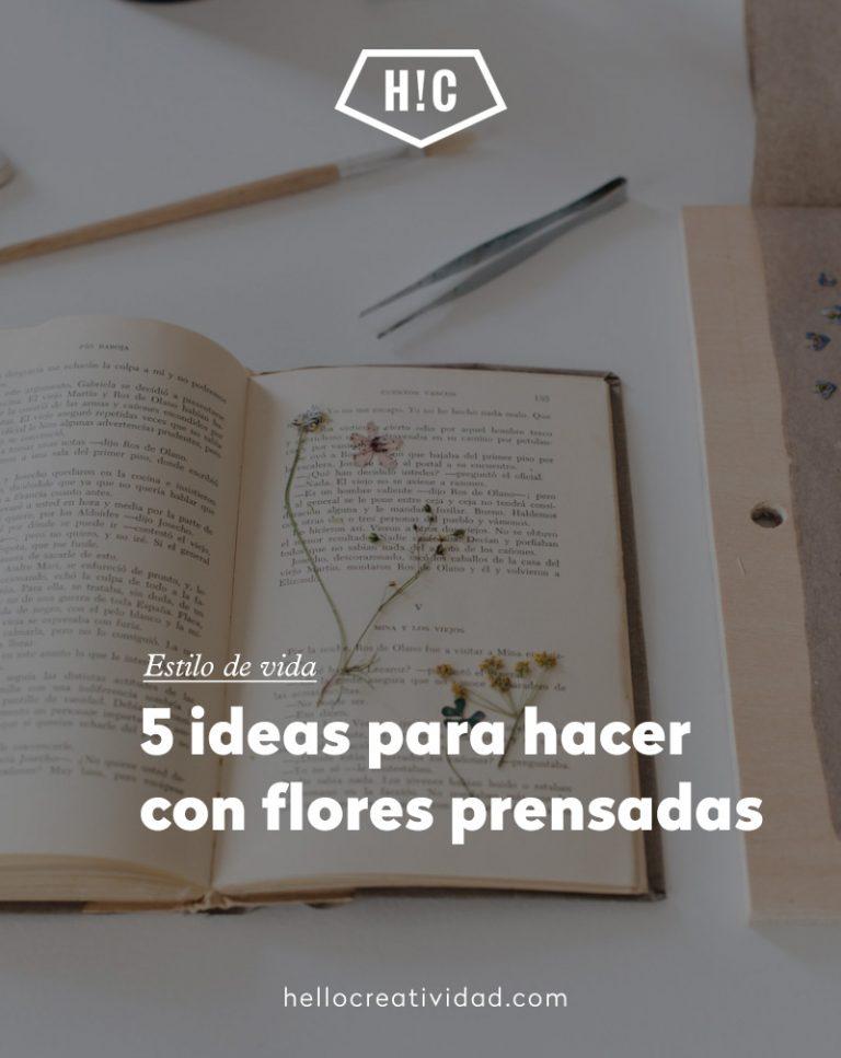Imagen portada 5 ideas para hacer con flores prensadas