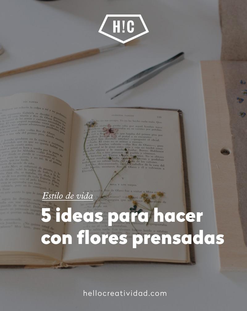 5 ideas para hacer con flores prensadas
