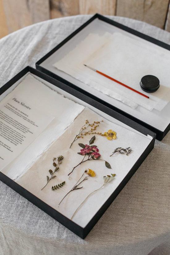 manualidades con flores prensadas