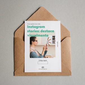 Tarjeta regalo Instagram Stories: destaca visualmente