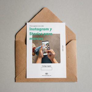 Tarjeta regalo Instagram y Stories para marcas