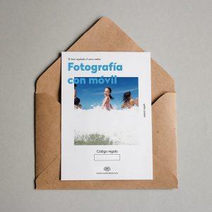 Tarjeta regalo Fotografía con móvil