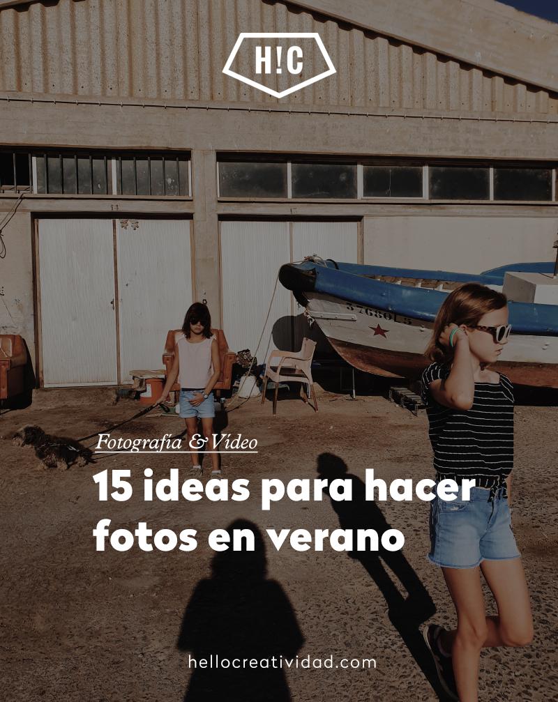 15 ideas para tus fotos en verano