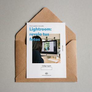Tarjeta regalo Lightroom: revela tus fotos