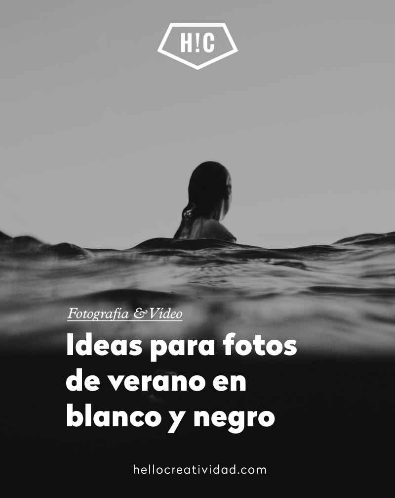 Ideas para tus fotos de verano en blanco y negro